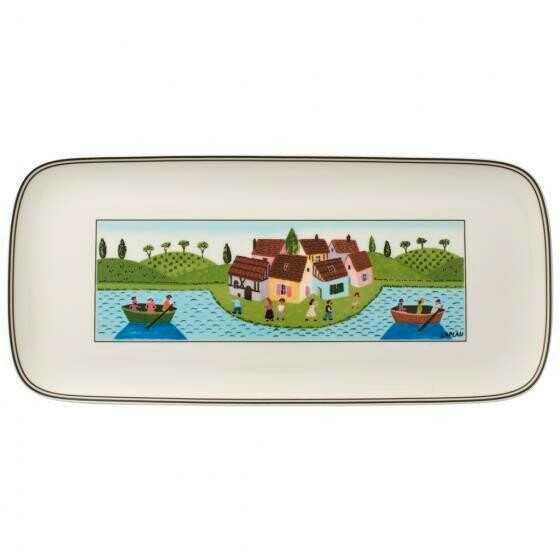 Villeroy & Boch Kuchenplatte 35 cm x 16 cm eckig Charm&Breakfast Design Naif