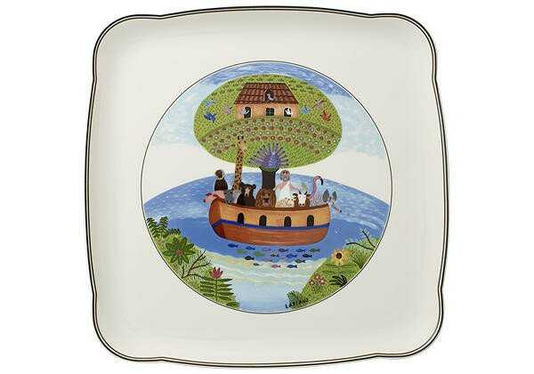 Villeroy & Boch Platte 30 cm x 30 cm quadratisch Charm&Breakfast Design Naif