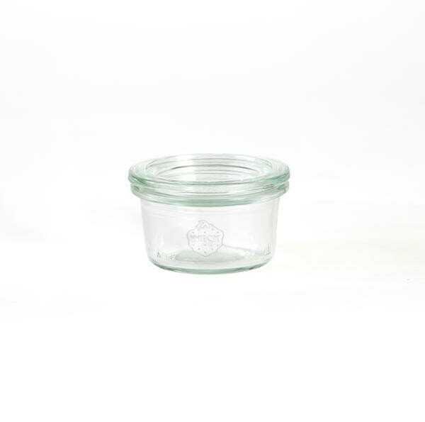 Weck Einmachglas 50 ml RR40 Sturzform mit Deckel 12er Pack