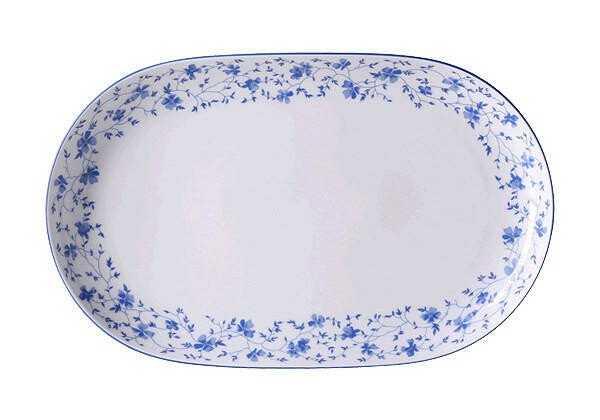 Arzberg Platte 32 cm oval Form 1382 Blaublüten