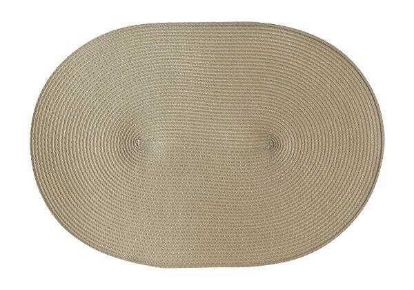 Continenta Tischset oval 45x31 cm natur