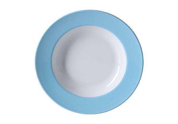 Dibbern Suppenteller 23 cm Solid Color Hellblau