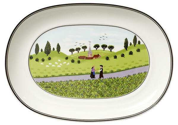 Villeroy & Boch Beilagenschale 20 cm oval Design Naif