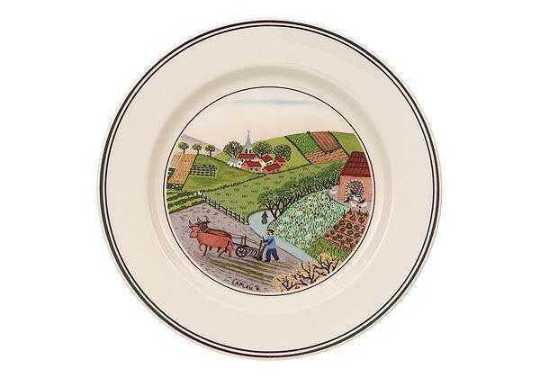 Villeroy & Boch Brotteller 17 cm Feldarbeit Design Naif