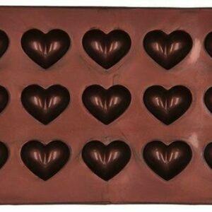 RBV Birkmann Pralinen-/ Schokoladenform 2-t Herz Silikon 21 x 11
